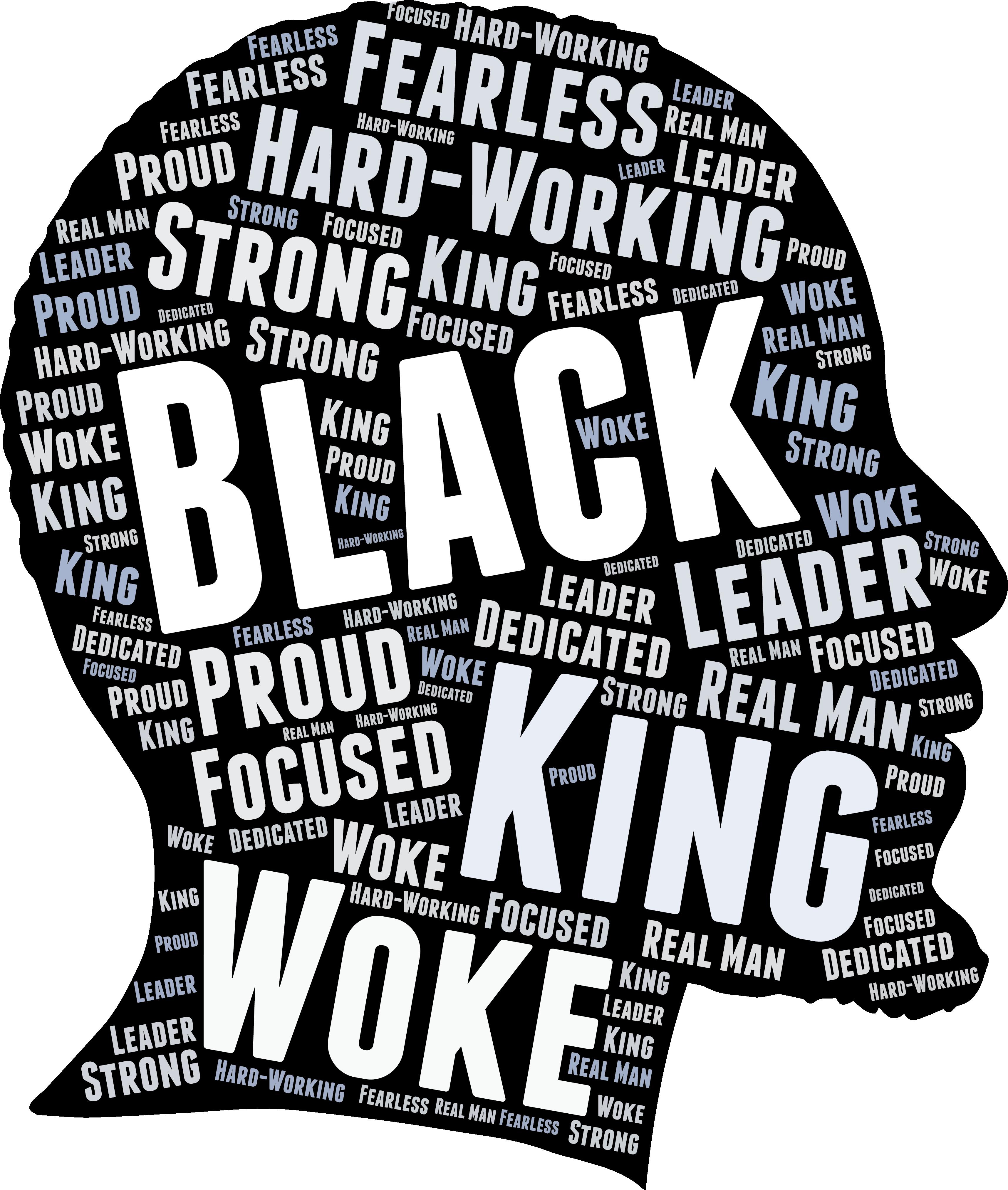 Black King African American Man Word Art T Shirt In 2020 Strong Black Man Black King African American Men