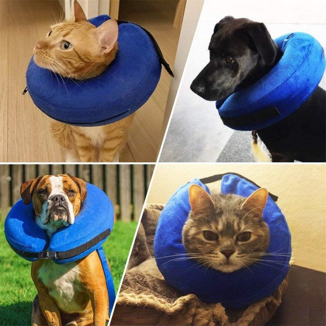 Royalsell Protective Inflatable Collar For Dogs And Cats Soft Pet Recovery Collar Does Not Block Vision Ecollar Details Can Be Fou Cat Collars Pets Dog Cat