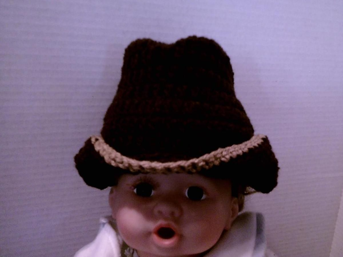 Baby Cowboy Hat | Craftsy | Cowboy Crocheted | Pinterest | Baby ...