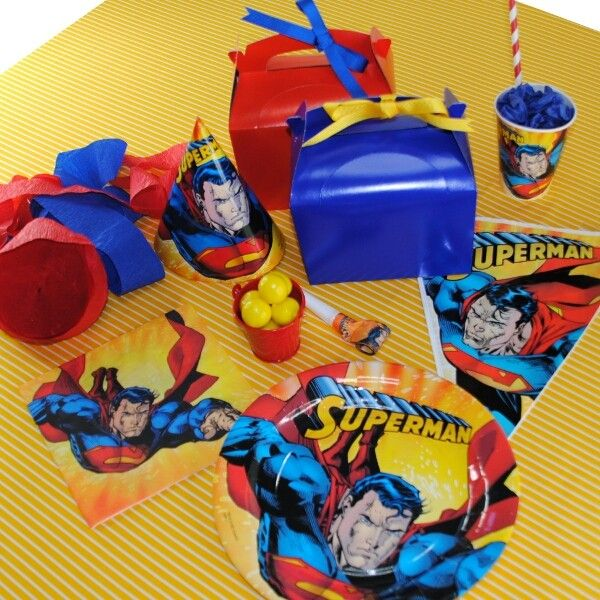 The Party Cupboard Superman Birthday Party Superman Party
