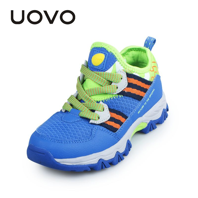 UOVO Boys Sneakers 2017 New Spring Summer Breathable Mesh Children Casual  Shoes Lace up Outdoors Walking 8b80efd6694e