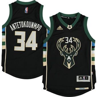 finest selection e0257 3bb51 Youth Milwaukee Bucks Giannis Antetokounmpo adidas Black ...