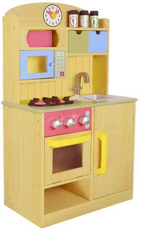 5 Piece Little Chef Wooden Play Kitchen Set | Wooden play ...