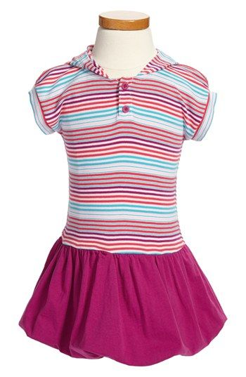 Tea Collection 'Market Stripe' Bubble Skirt Hoodie Dress (Baby Girls) available at #Nordstrom $39