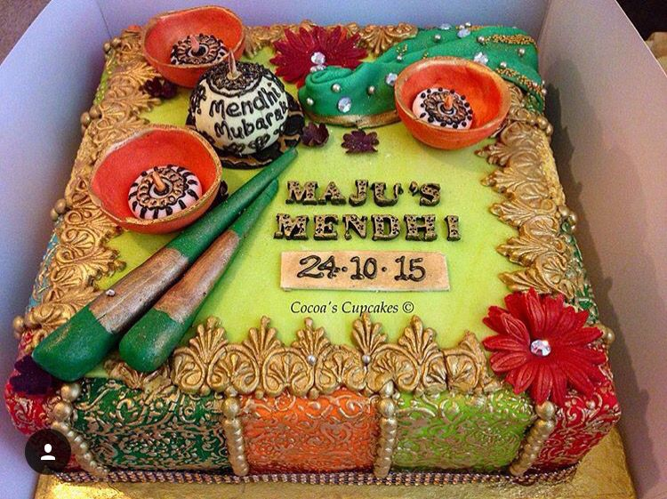 Cake For Mehndi Ceremony : Mehandi ceremony cake #indian #indianwedding #indianshaadi #mehandi