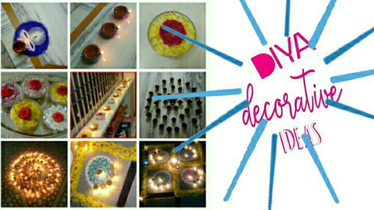 Diwali Diya Dekorationsideen mit Rangoli und Blumen I Diwali Dekorationen #diwalidecorations ...