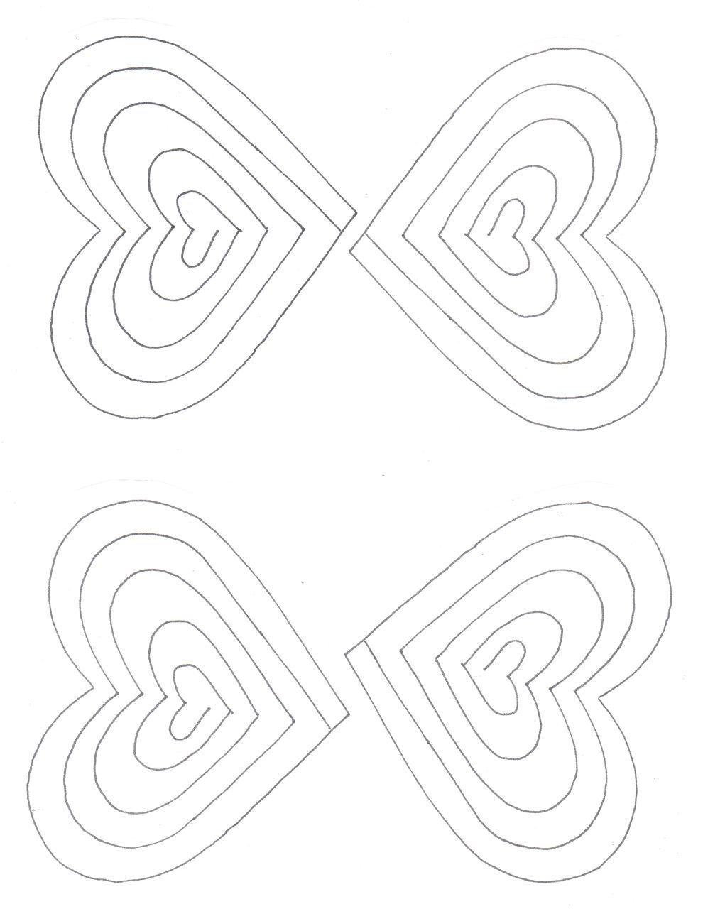 FREE spiral heart printable template