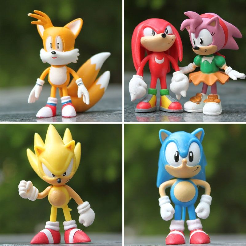 Sonic Hedgehog Toys Figures Cake Toppers Party Bag Filler Present Kids Birthday