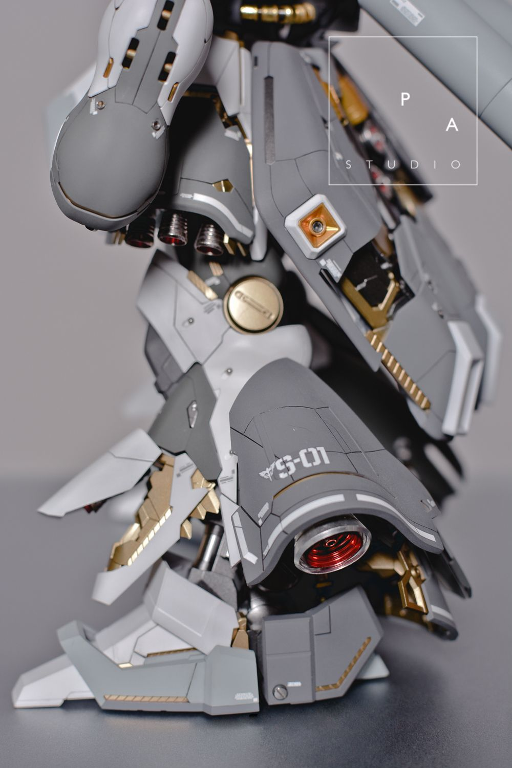 """gundamexousia: Title: Sazabi """"der Schnee + Quad Gatling Gun"""" Modification Modeler: PA StudioModel Type: Metal parts, custom panel line, custom color scheme, detailingKits Used: MG 1/100 Sazabi ver. KaAbout the Kit:""""I am totally inspired by ihaveyen's Snow Sazabi. So, i decided to make my own version based on his sazabi. I added some custom panel line to enhance the complex look of sazabi ver. ka. I did some color separation too for the armor and frame"""" Like this kit? Get it at Amazon!..."""