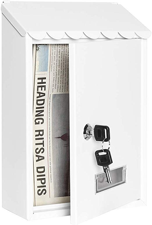 11 8 X 8 1 X 2 6 Wall Mounted Mailboxes With Key Lock Small Mail Box With Transparent Cover Mounted Mailbox Wall Mount Mailbox Lockable Mailbox