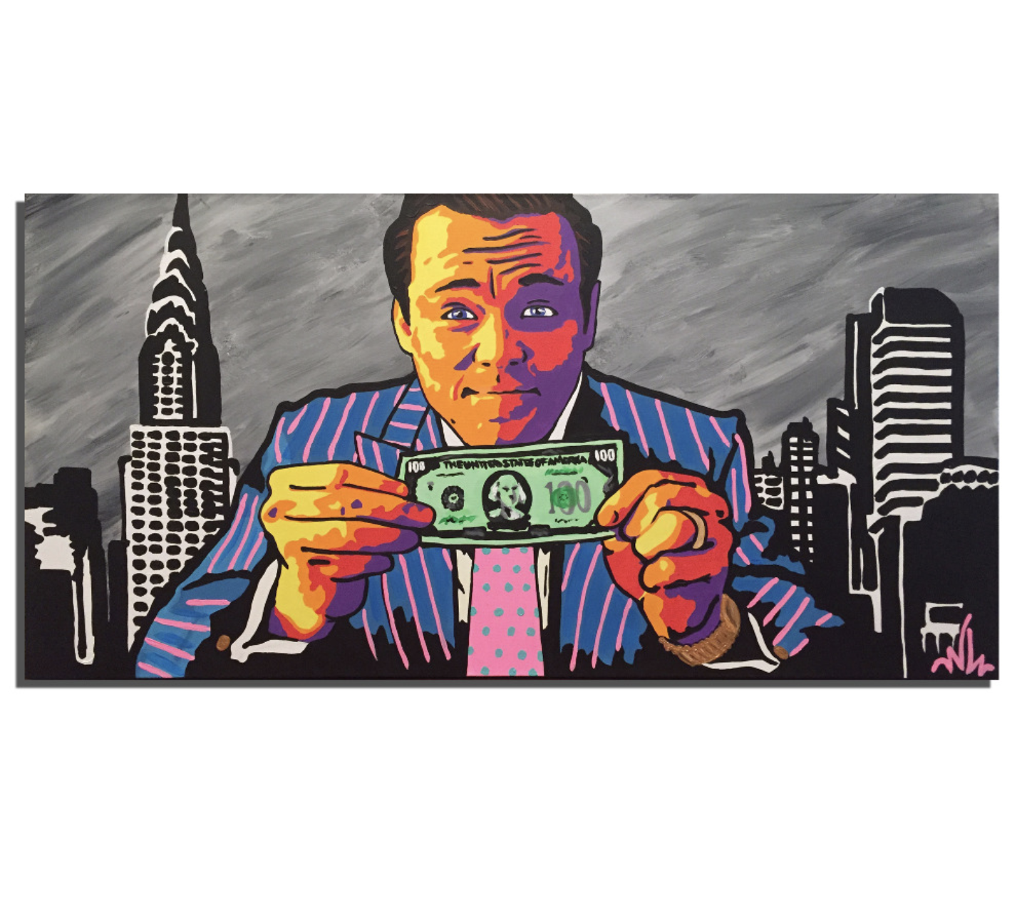 wolf of wall st art canvas painting painting on wall street id=26994