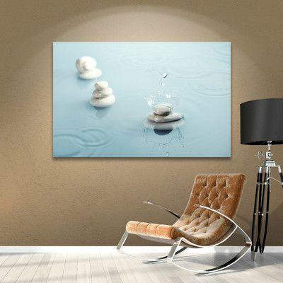 "Latitude Run Zen Rain II Photographic Print on Wrapped Canvas Size: 32"" H x 48"" W x 2"" D"
