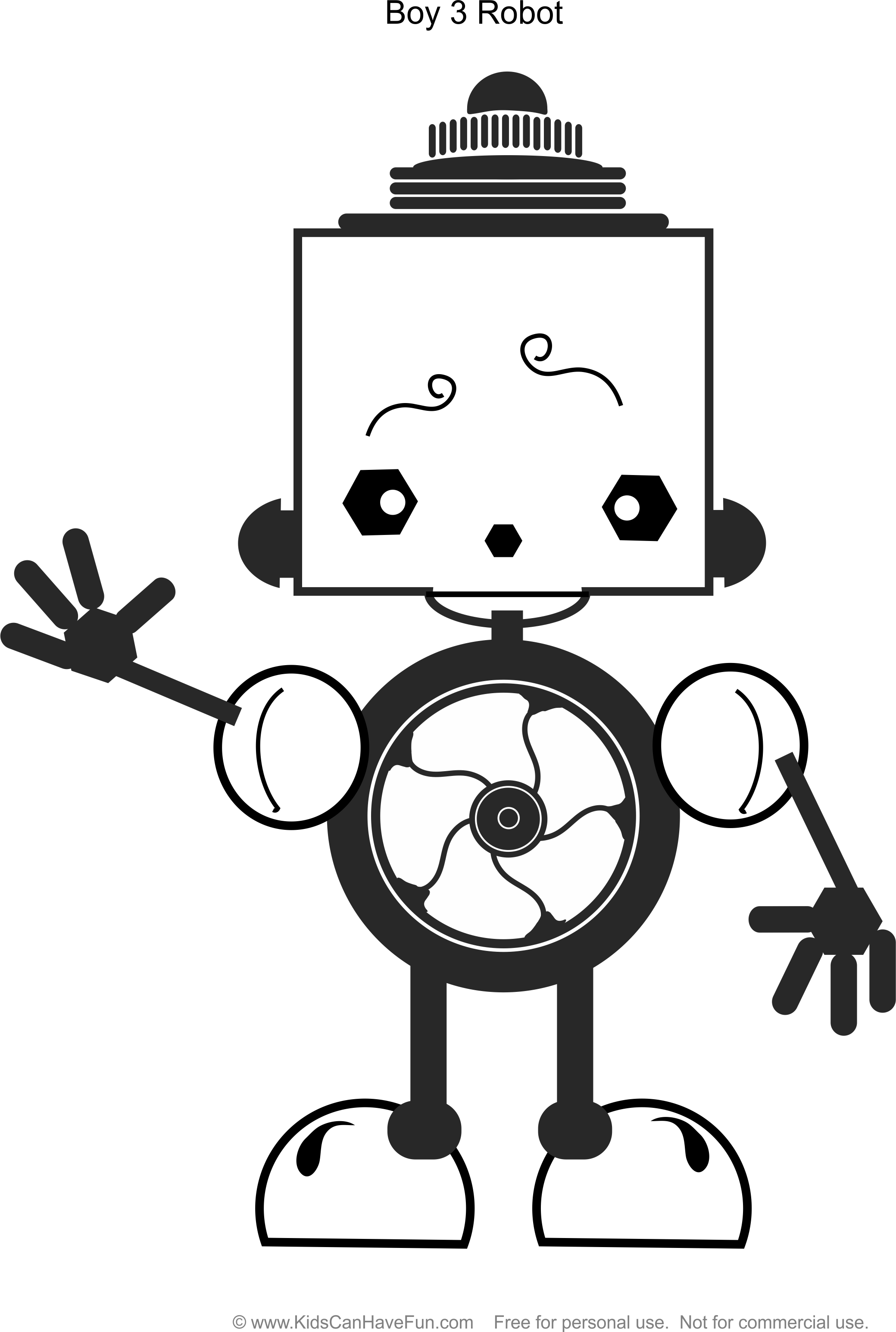 robot boy 3 coloring page httpwwwkidscanhavefuncomrobot coloringhtm robot coloringbook