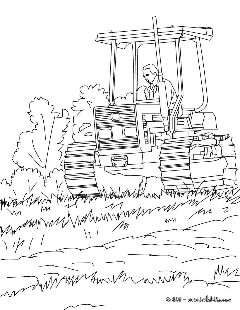 Farmer on his tractor coloring page. Amazing way to discover job ...
