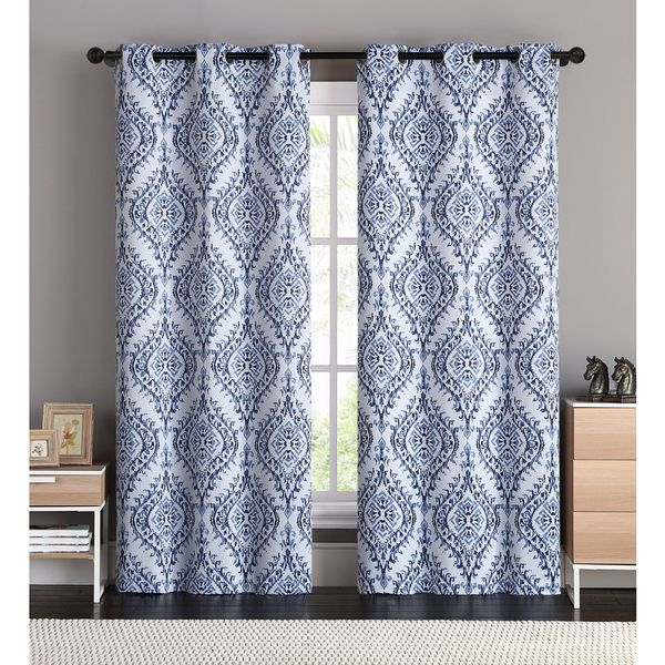 OVERSTOCK EXCLUSIVE VCNY London Blackout Curtain Panel Pair - cortinas azules