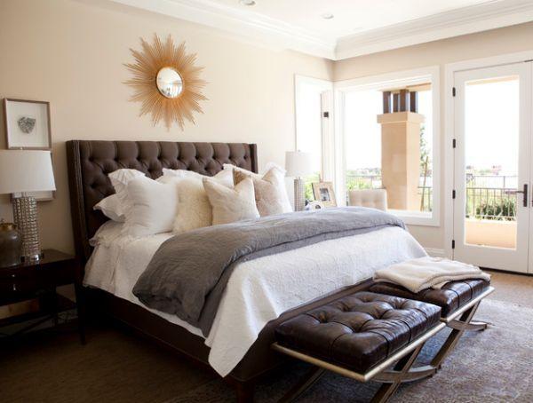 34 Gorgeous Tufted Headboard Design Ideas Transitional Bedroom Design Traditional Bedroom Design Bedroom Design
