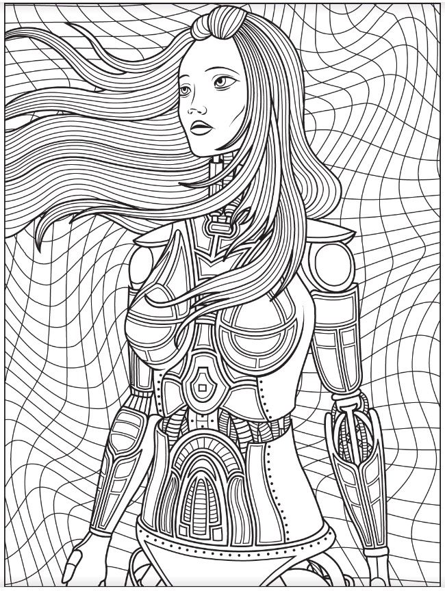 Robot Colorish Free Coloring App For Adults By Goodsofttech Steampunk Coloring Dog Coloring Page Coloring Books