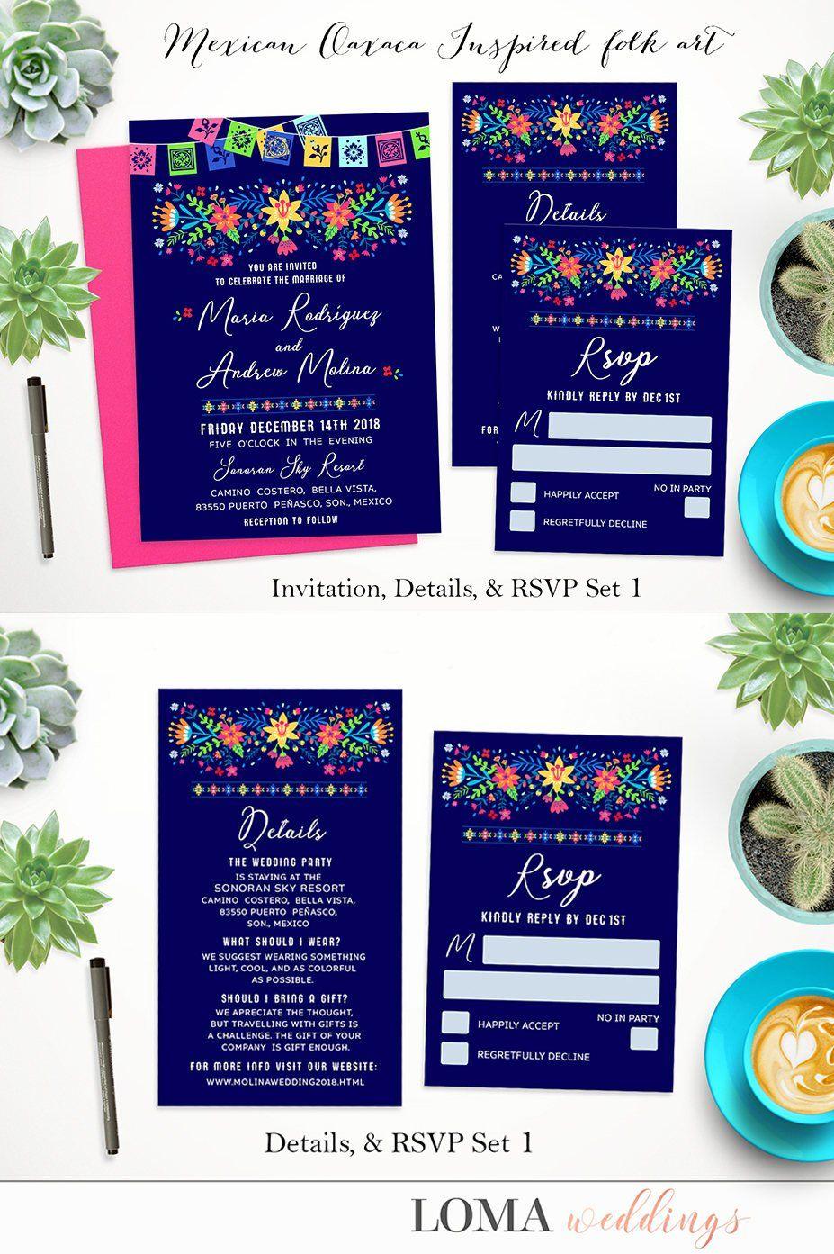 Wedding decorations for reception december 2018 DIGITAL  Mexican Folk Art Oaxaca Inspired Design Service