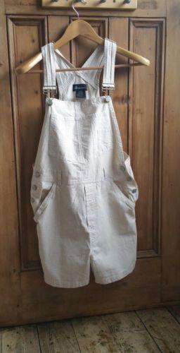 Ladies-vintage-cotton-dungarees-xs-gingham-womens-shorts-playsuit-festival-uk