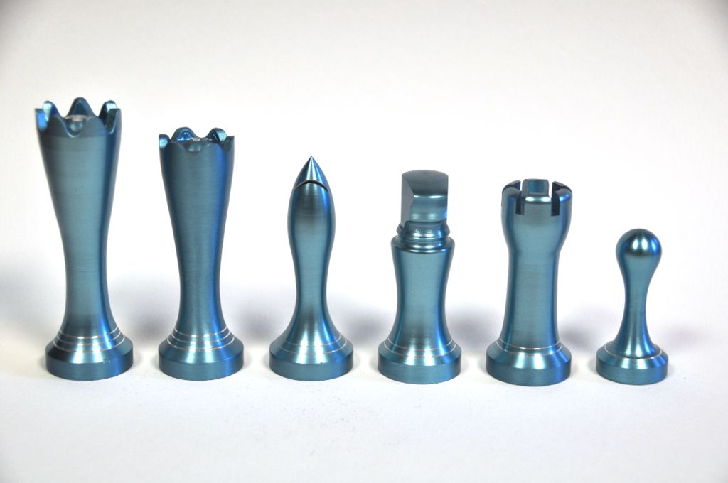 Modern Metal Chess Set Made On A Lathe Chess Pieces