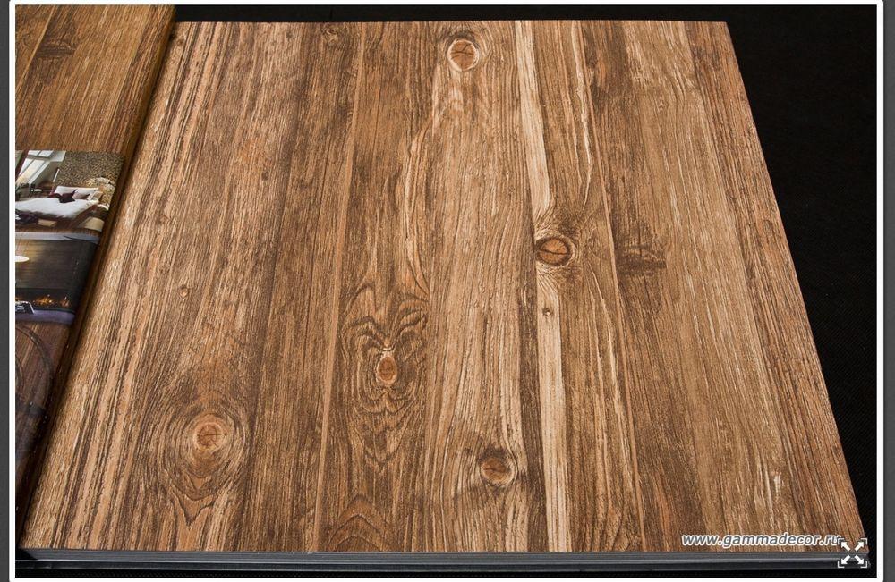 Rustic Wood Brown Wood Optic Panelling Timber Plank Wallpaper 10m