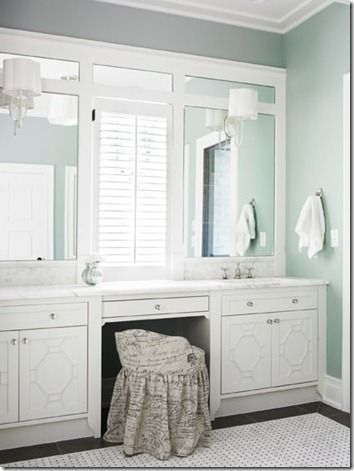 Bathroom Cabinet Designs Need To Paint The Makeup Vanity White And Maybe Put The Laminate