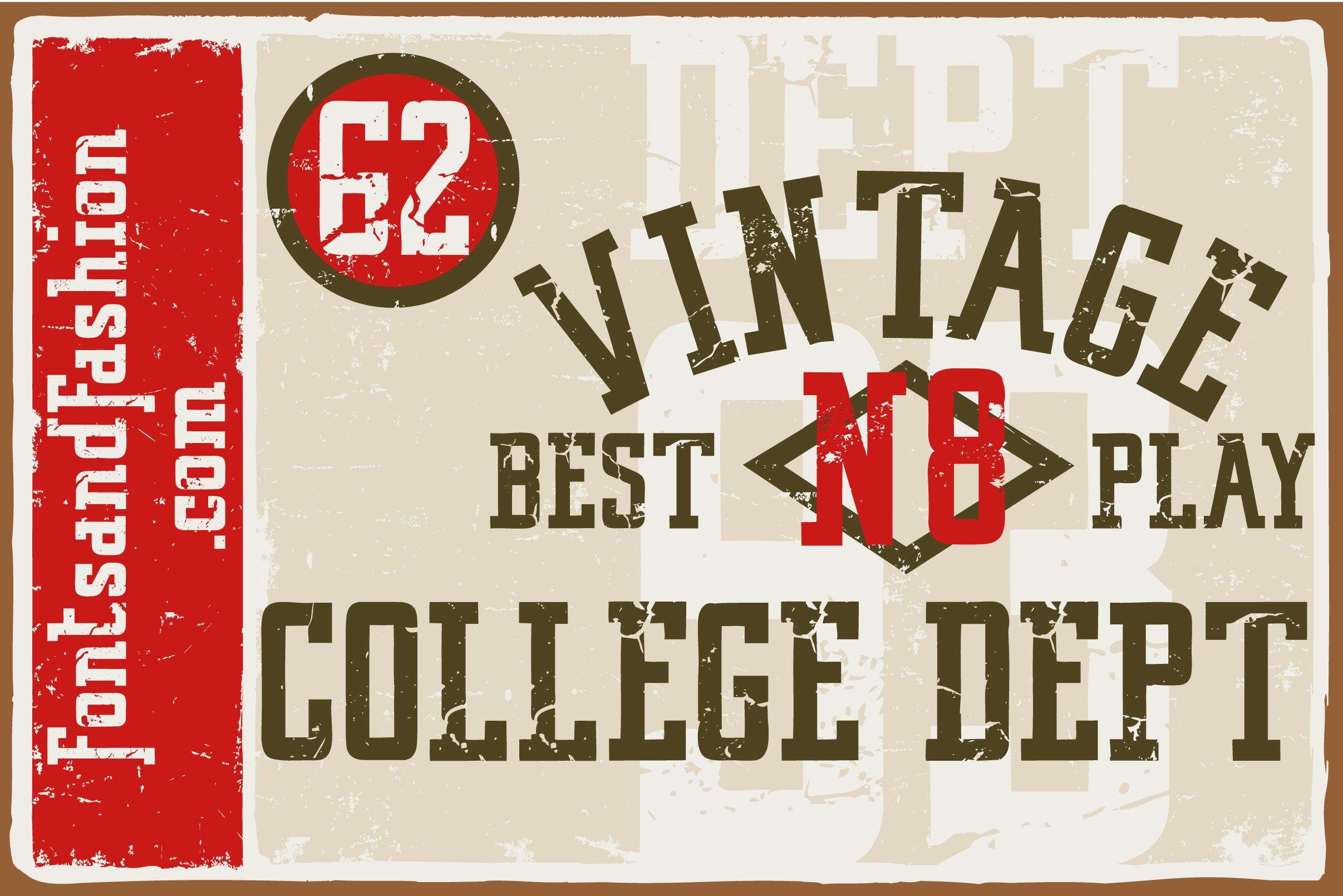 Vintage College Dept_Worn (Font) by Fontsandfashion