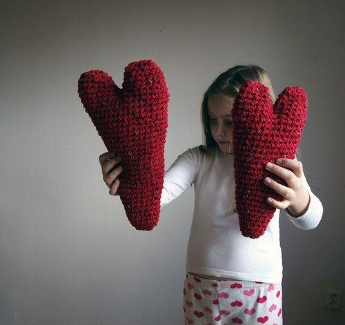 Srdce z lásky darované - menší    Knitted hearts