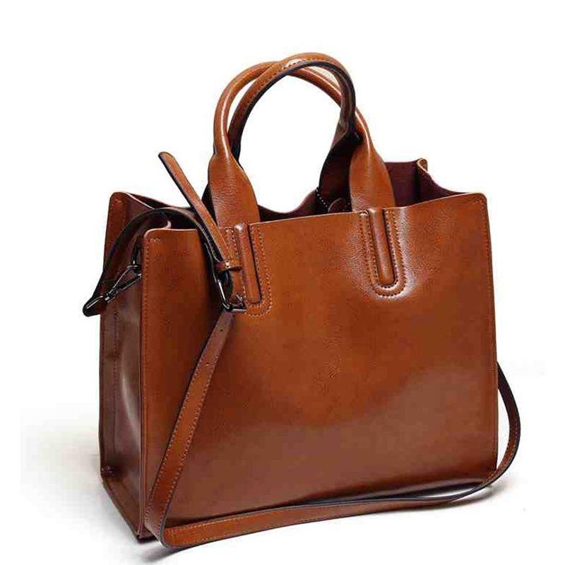 Leather Bags Handbags Women Famous Brands Big Women Casual Bags ...