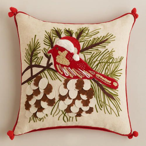 Holiday Birdie Throw Pillow At Cost Plus World Market