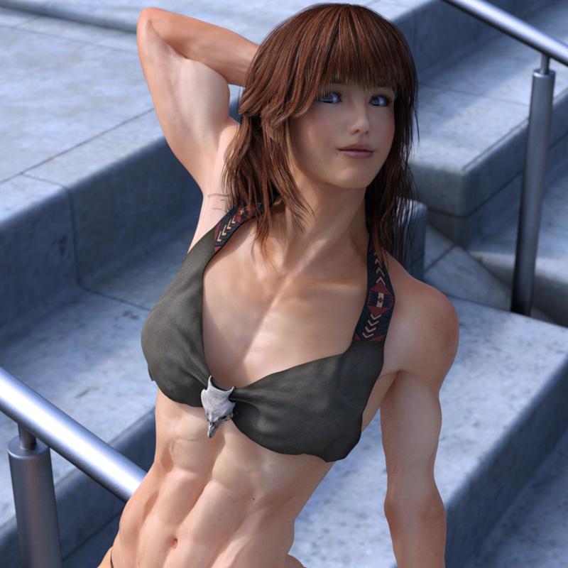 Asian girls biceps