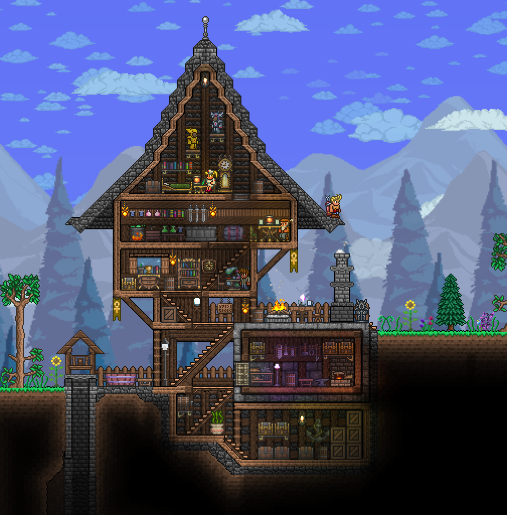 Terraria house terraria house and gaming for Terraria house designs
