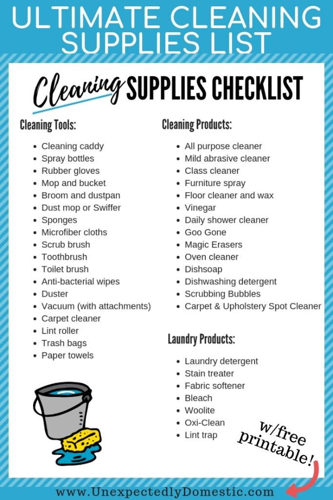 Ultimate Cleaning Supplies Checklist: Your Must Have