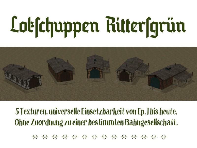 Lokschuppen Set Rittergrün. Ab #EEP8 http://bit.ly/Lokschuppen-Set-Rittersgrün