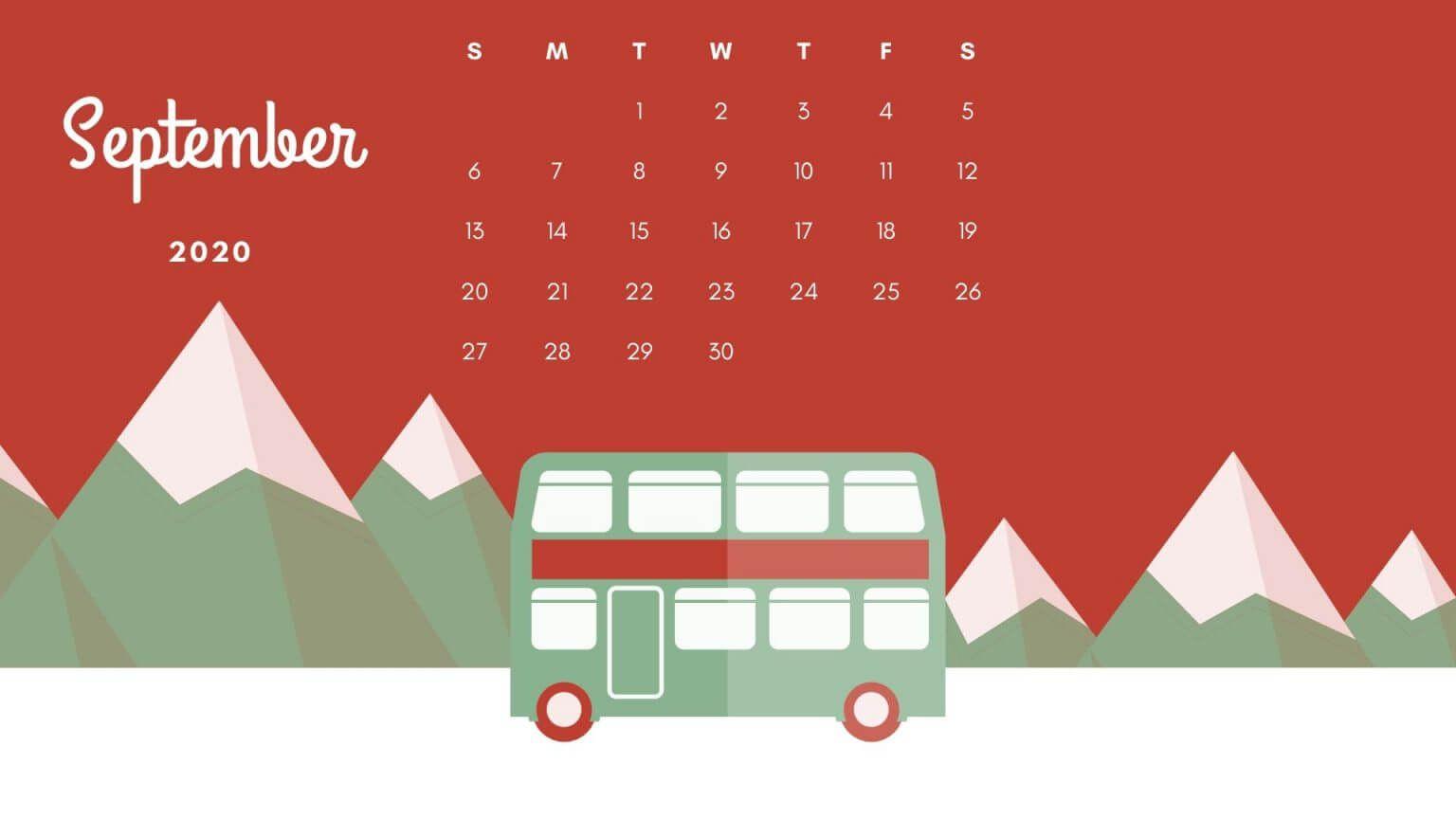 September 2020 Best Calendar In 2020 Calendar Wallpaper September Calendar Wall Calendar