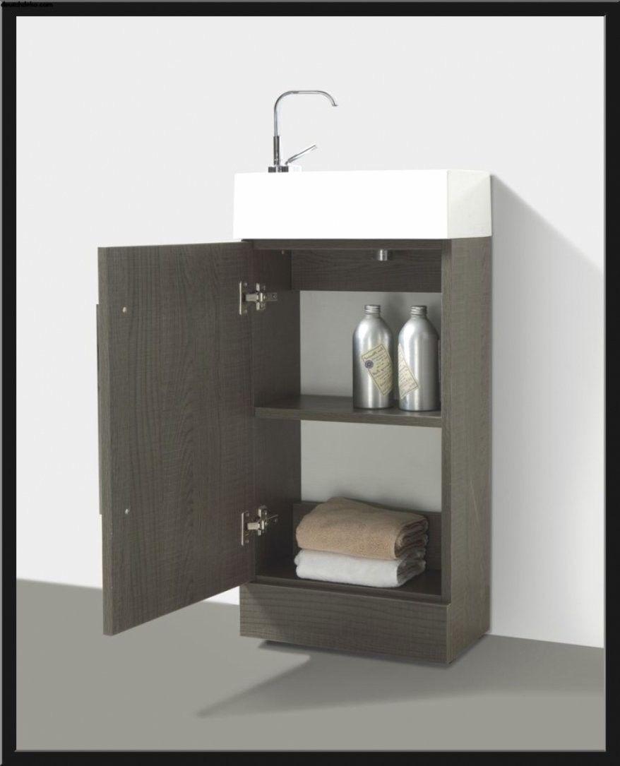 Kleines Waschbecken Mit Unterschrank Fur Gaste Wc Haus Bauen