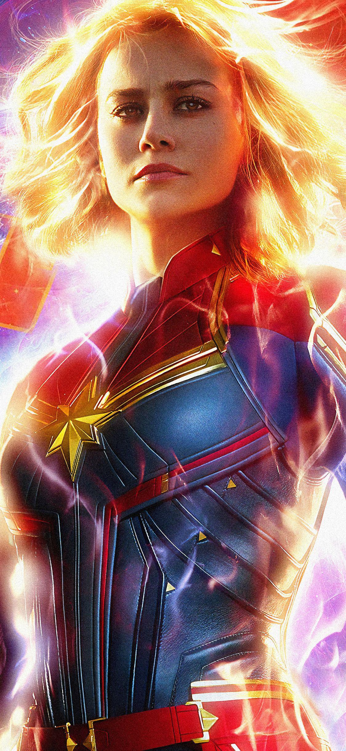 Captain Marvel Movie 2019 5k In 1125x2436 Resolution Marvel Movie Posters Marvel Wallpaper Hd Marvel