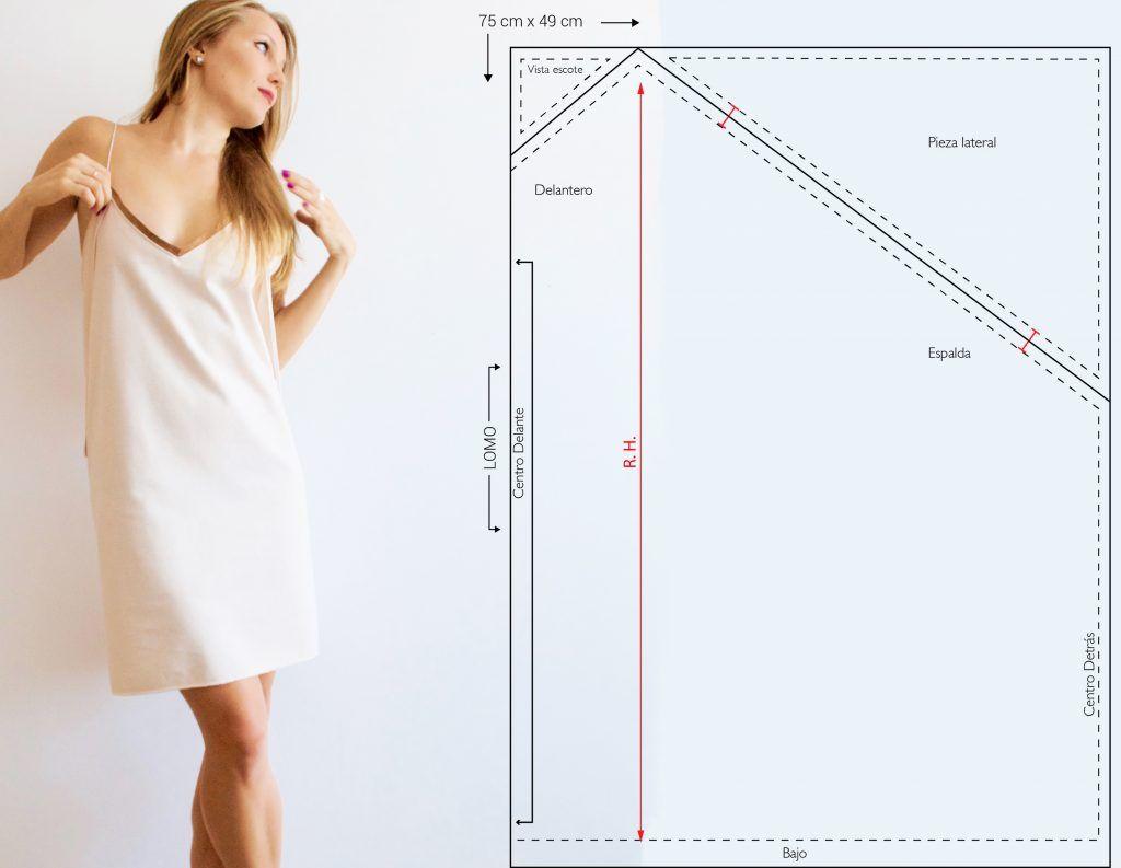 patron-vestido-lencero-cero-residuos | patrones faciles | Pinterest ...