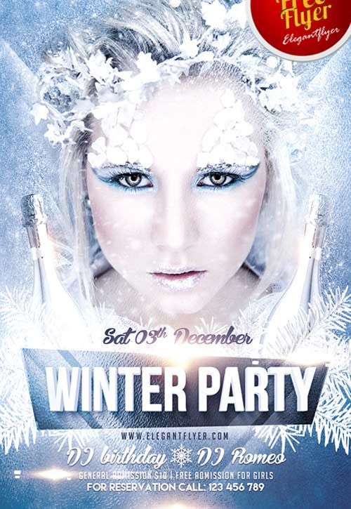 Winter Party Free Psd Flyer Template Httpfreepsdflyer