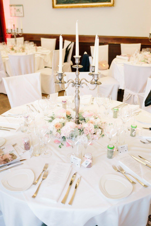 Beispiele für Blumen auf runden Tischen für die Hochzeit | Tischdekoration hochzeit blumen