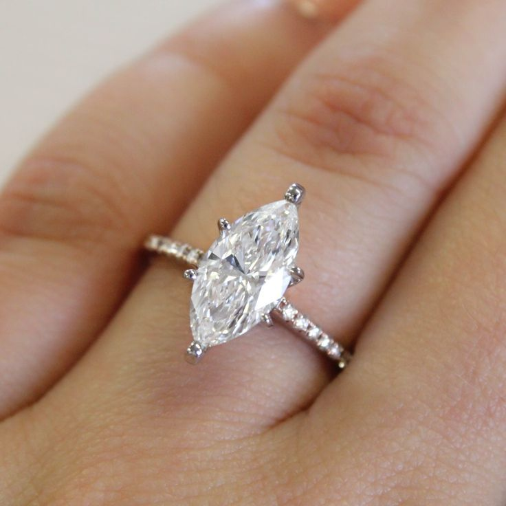 a distinctive marquise diamond makes a stunning statement - Marquis Wedding Ring