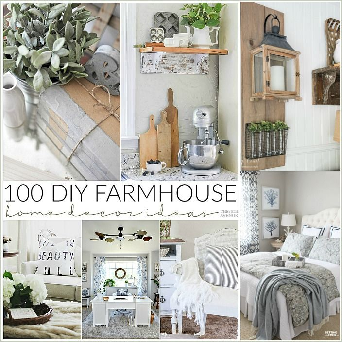 100 DIY Farmhouse Home Decor Ideas Handmade home decor