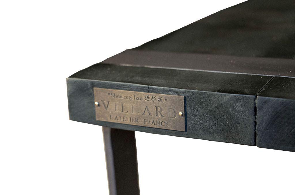 L Art Du Bois Brule Shou Sugi Ban Meuble En Bois Et Metal Par L Atelier Villard Createur De Mobilier Contemp Mobilier Contemporain Table Basse Salon Mobilier