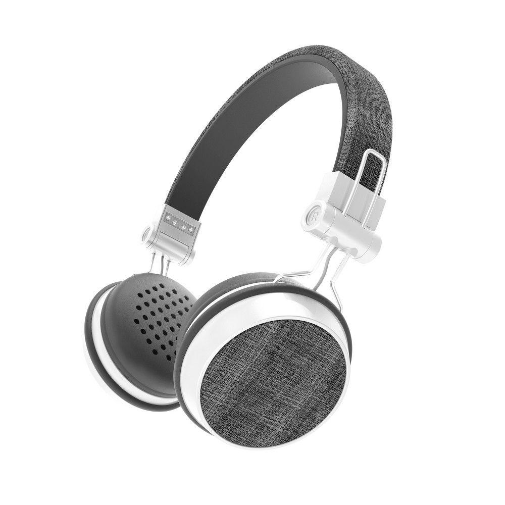 Sharper Image Fabric Wireless Headphones Black Sbt666bk