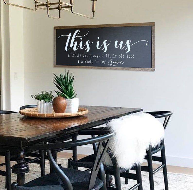 Home decor sign this is us wood sign family sign