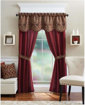 Walmart 5 Piece Curtain Panel Set For 7 99 Reg 15 Free