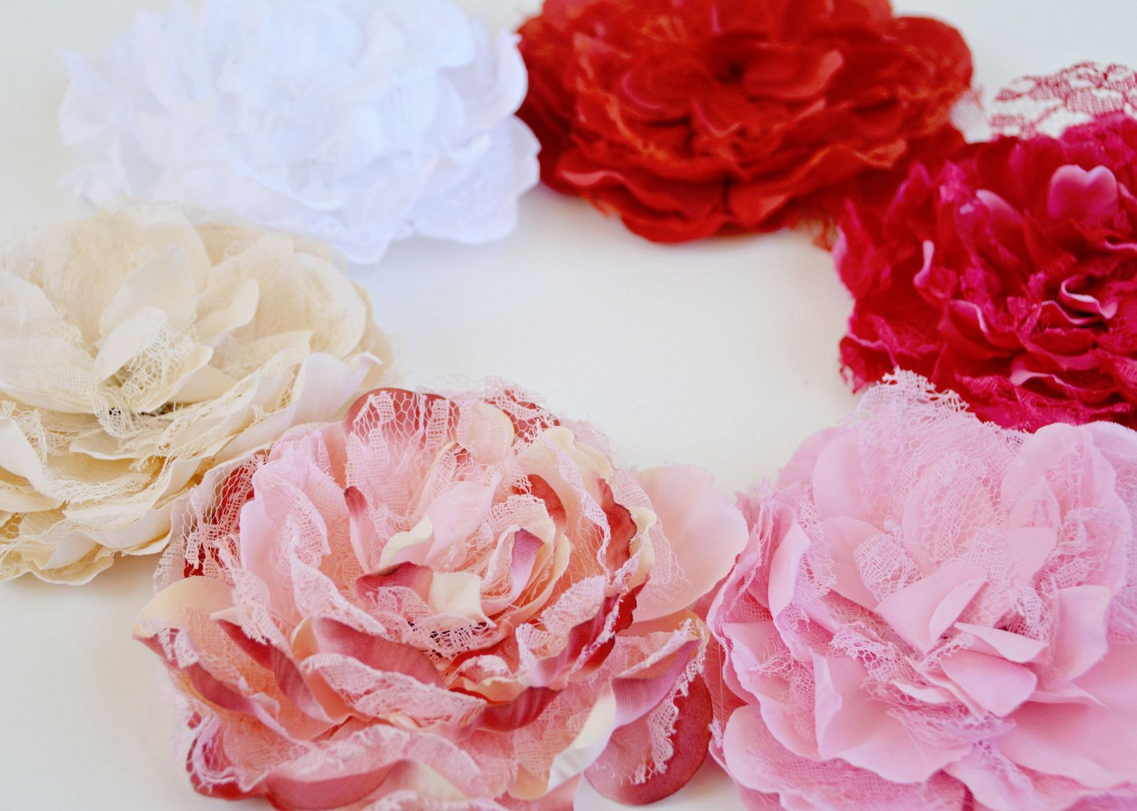 XL Lace Peonies - Each