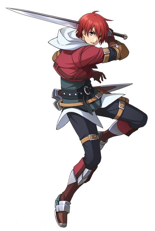 Anime Guy Red Hair Silver Eyes Sword Cropped Jacket