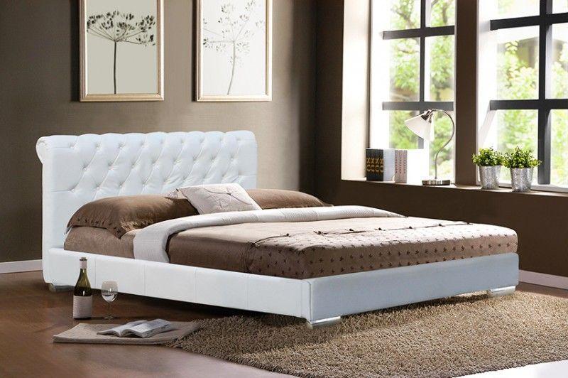 designer bett bilder Design Bett Monaco weiß inkl Lattenrost - schlafzimmer schwarz wei