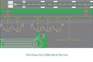 Airport Layout Mats 1 400 And 1 200 On The Reverse Aviones De Pasajeros Aviones Pasajeros